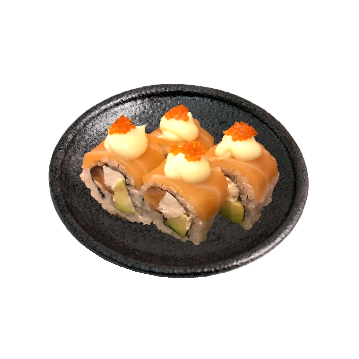 DELUXE SALMON REAMCHEESE ROLL (4pc)